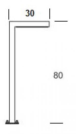 WAY PROSTY LO 0,8m Lampa Ogrodowa wymiary