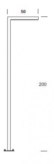 WAY PROSTY LO 2m Lampa Ogrodowa wymiary
