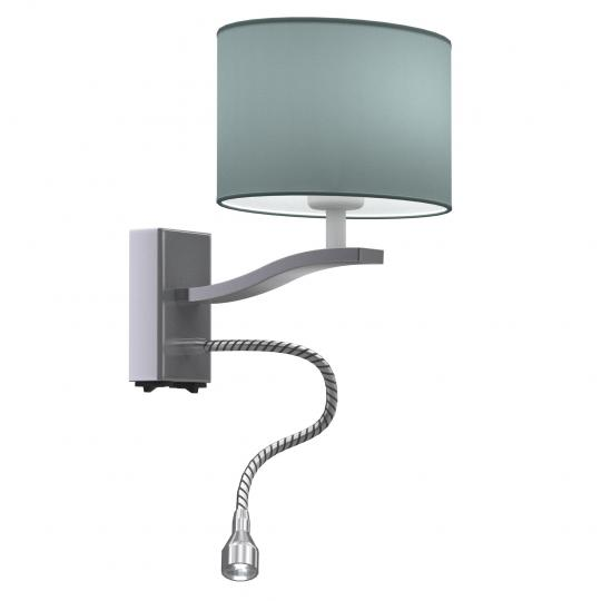 BRANDY K LED Kinkiet inox, metal, wężyk regulowany led, ElmarCo POLSKI producent oświetlenia elmarco_pl