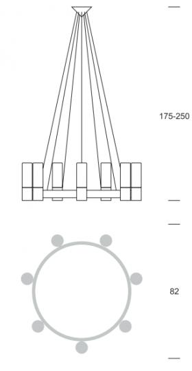 CARLO Ż9 up Żyrandol wymiary