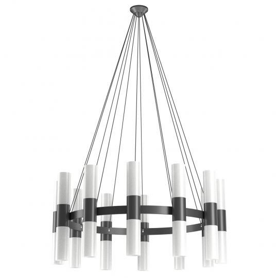 CARLO Ż24 up-down Żyrandol czarny, duża lampa, świeci góra dół, ElmarCo POLSKI producent oświetlenia elmarco_pl