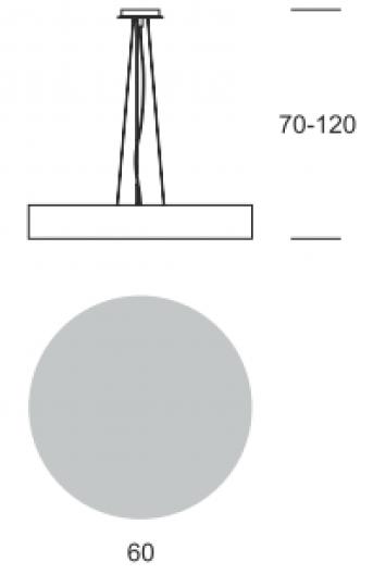 RONDO LS FI60/6 DREWNO Lampa Sufitowa wymiary