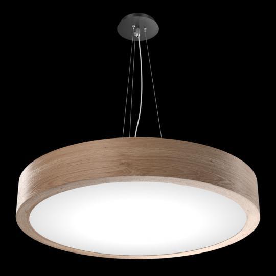 RONDO LS FI60/6 DREWNO Lampa Sufitowa natura