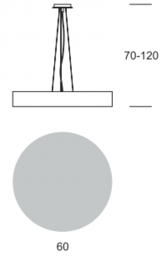 RONDO LS FI60/6 Lampa Sufitowa wymiary