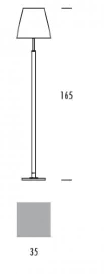 KLARA BIS LP Lampa Podłogowa wymiary