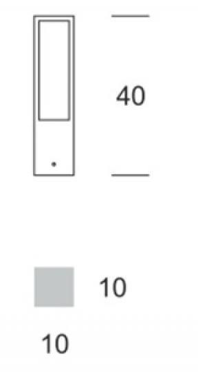 FRYZJA LED LO 0,4m Lampa Ogrodowa wymiary