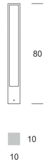 FRYZJA LED LO 0,8m Lampa Ogrodowa wymiary