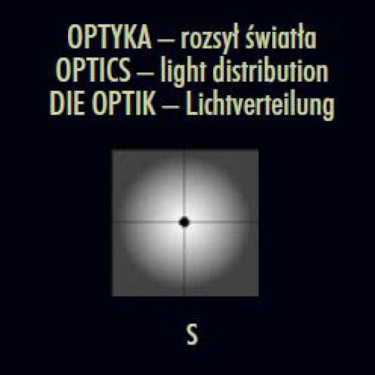 FRYZJA LO 1,2m Lampa Ogrodowa optyka