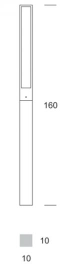 FRYZJA LED LO 1,6m Lampa Ogrodowa wymiary