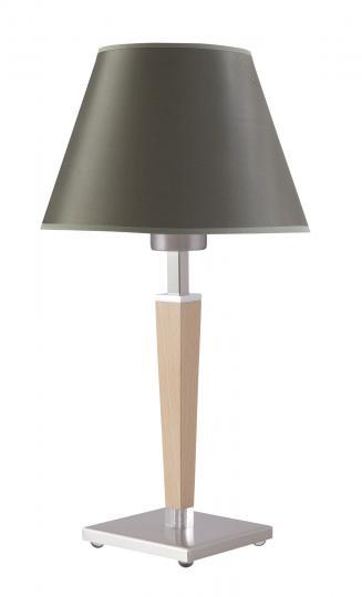 KLEO LN Lampa Nocna inox natura, nowoczesna, drewno, abażur, ElmarCo POLSKI producent oświetlenia elmarco_pl