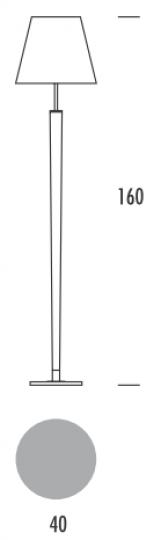 KLEO BIS LP Lampa Podłogowa wymiary