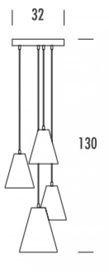SCANDIC K Ż4 S Żyrandol wymiary