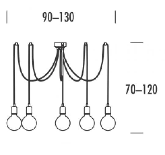SCANDIC K Ż5 Z Żyrandol  wymiary
