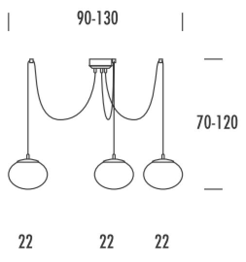 PUFA Ż3 M Żyrandol wymiary