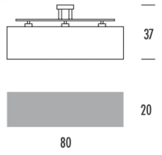 STUDIO LS-S3 Lampa Sufitowa wymiary