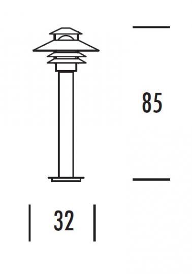 SCANIA LO 0,85m Lampa Ogrodowa wymiary