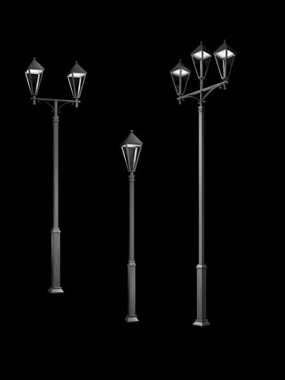 GEDANUS Latarnia nowoczesna, wysięgnik, oprawa Gedania LED klasyczna, ElmarCo POLSKI producent oświetlenia elmarco_pl