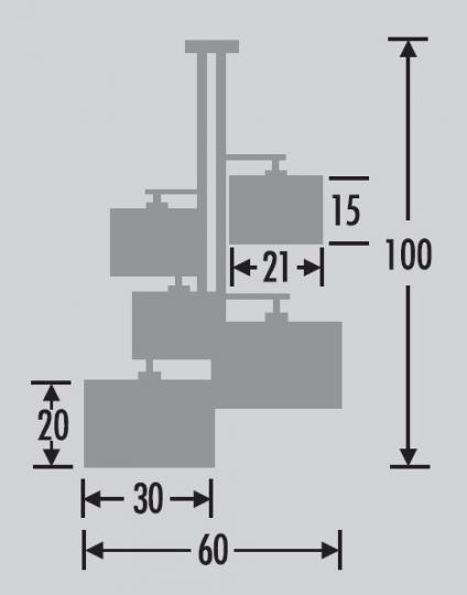 NINA Ż5 Żyrandol wymiary