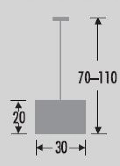 BISHOP LS R Lampa Sufitowa wymiary