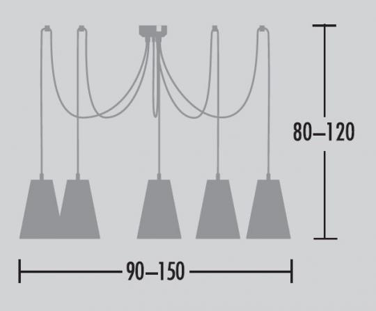 Scandiz Żyrandol 5 wymiary