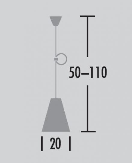 Scandic A Lampa Sufitowa wymiary