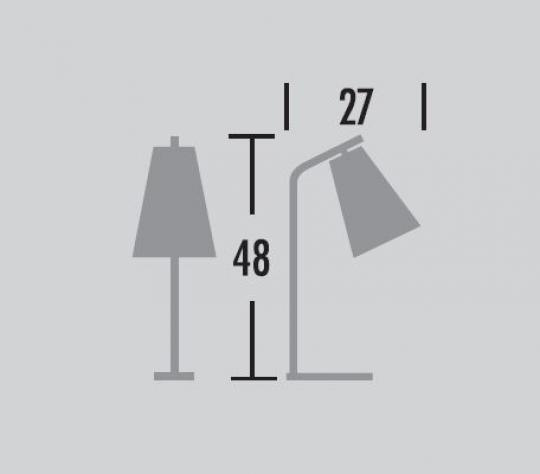 Scandic Bis Lampa biurkowa wymiary