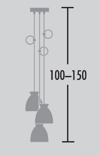 Nordic Żyrandol 3S wymiary