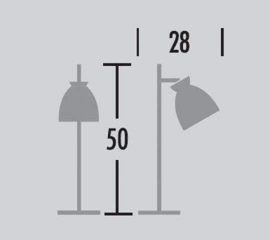 Nordic Lampa Gabinetowa wymiary