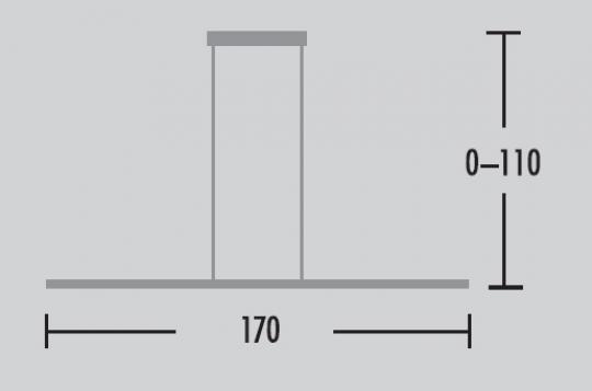 Kreska Lampa Sufitowa 170 wymiary